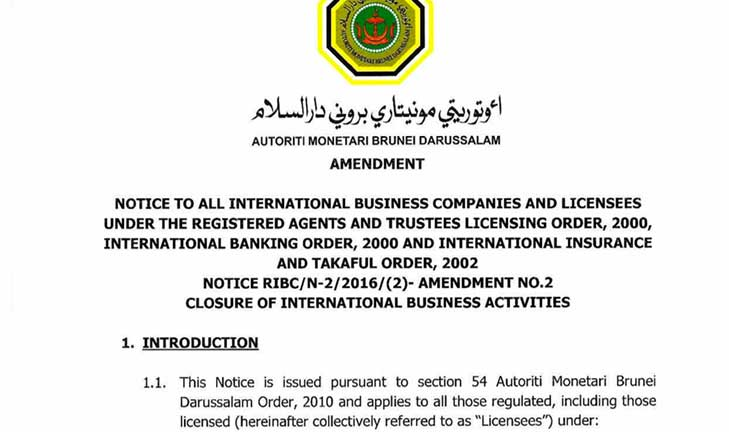Extension of time for migration of International Business Companies (IBCs)